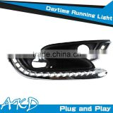 AKD Car Styling LED DRL for Opel Insignia DRL New Insignia 2014-2015 LED DRL LED Daytime Running Light Good Quality LED Fog lamp