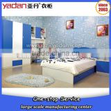 Cartoon Designs of single size drawer kid bed and wardrobe customized enviromental furniture