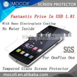 Latest Chinese prodcut MOCOll Brand universal anti shock for oneplus one 2.5D tempered glass screen protector