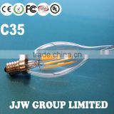 Professional c35 e14 6w led filament bulb light dimmable filament led bulb e14 candle 4w chandelier filament led bulbs