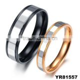 Wholesale alibaba 2015 valentine day gifts fashion jewelry lovers couple band titanium rings