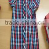 Fashional cute checked 100% cotton boy shirt