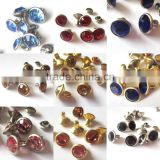 bling Colors rhinestone crystal diamond metal rivets round metal strass rivet fabric metal buttons