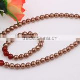 Latest Design Fashion Wholesale Women Jewellry Beads Pearl Jewelry Set Necklace And Bracelet