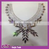Customed Hand-made women hot fix crystal rhinestones collar for decoration                                                                         Quality Choice