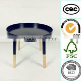 2015 simple natural wholesale newst best-selling modern folding KD wooden round coffee table