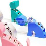 Latest 4 Port USB HUB 2.0 Factory direct sale with cat shape