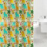Cartoon kids fabric eco-friendly home Shower curtain