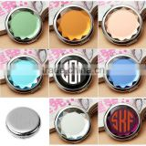 Customized Monogram Initial Logo Crystal Compact Pocket Mirrors