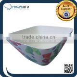 Eco Friendly Square Bamboo Fiber Food Packaging Colorful Salad Bowl