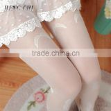 japan beautiful flower transparent glossy women korea tights pantyhose wholesale