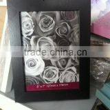 cheap black rose flower picture MDF photo frame 4x6 5x7