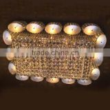 lustre rectangle shape ceiling chandelier crystals ceiling chandelier modern lighting