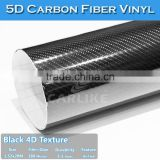 Hot Sale Super Glossy Sticker Black 5D Carbon Fiber Film Car Wrapping Foil