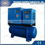 37kw/50hp,6.2m3/min, 219cfm combined rotary screw air compressor with air dryer,air filter and air tank