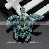Cute animal series-lovely rhinestone crystal sea turtle brooch/handmeade rhinestone brooch