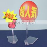 POP display Clear clip with pentagon table stand for advertising using and retail display clips