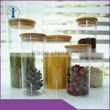 2016 china supplier hot selling glass jar , glass jar with wooden lid and food storage jar