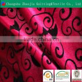 China manufacturer flower polyester flocked sofa upholstery fabric ZJ015