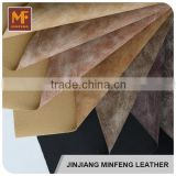 Plastic leather car seat cover pu coated leather made in China leather notebook