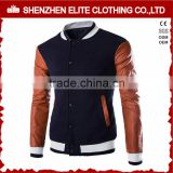 latest design men buttons varsity jackets leather sleeves