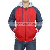 red blue boys custom nylon varsity jackets