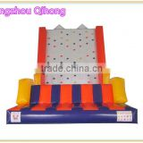 hot sale children inflatable moving rock climbing wall, used inflatable climbing mountain