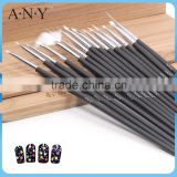ANY Cheap Black Wood Handle 15 Nail brush For Nali Beauty Care