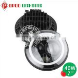 2015 hot products 7'' hi low beam round motorcycle projector headlight with angel eye