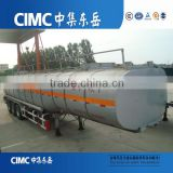 Tri-Axles 45000 Liters Fuel Oil diesel Tank Semi Trailer / fuel truck semitrailer for sale