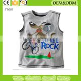 fashion custom Infant 100%Cotton Sleeveless Raglan baby kids t shirts Printing t shirt children's clothes