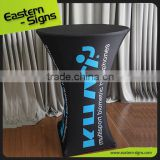 Tablecloths Wholesale High Bar Printing Spandex Banner Folding Cocktail Table Cloth                                                                         Quality Choice