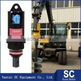 Tree Hole Digging Machine /Earth Auger SC4000 For 2.5T-4T Excavator DH220 For Post Hole Digging