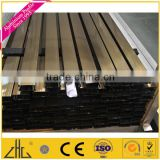 Wow!! champagne anodized aluminium profile for round tube,anti-rust aluminium tube/ yellow aluminium roller shutter door profile