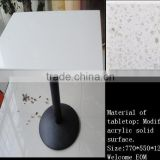 light green artificial stone expandable italian marble dining table designs, Restaurant dinning table