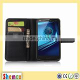 Wholesale leather wallet case for motorola MOTO X FORCE XT1580