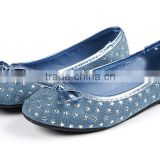 stars printed TPR sole fancy cute cheap ballerina shoe girls belly pump shoes ballet flats shoes kids 2016