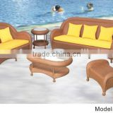 Tradition Chinese Style garden patio sofa set 7 pieces rattan wicker material