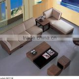 Star hotel sofa & chairs lobby furniture / public furniture rattan sofa with ottoman