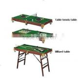 Wholesale multi game table 4 in 1 combination game tables snooker table/ chess / backgammon/ table tennis table