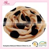 Factory Price Fashion Porka Dots Silks and Satins Flower Decorations Satin Rose Hair Flowers