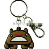 lovely animal 3D effect soft pvc keychain key holder