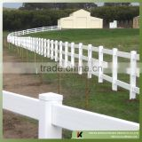 Country side rural area used beautiful shape vinyl ranch fence