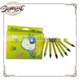 Custom Design 36 colors Natural Hexangonal Shape Crayon, Promotional Bright Color Short Pencil Crayon 36 For Kids Drawing
