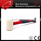 Wood Handle /Popular Fibre glass Handle Rubber Mallet Hammer With white Head Or Black Head