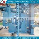Q483 series qingdao China supplier overhead conveyor chain shot blasting machine for a-alloy motor wheel