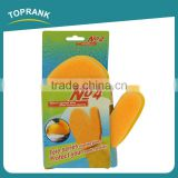 Toprank Household Kitchen Natural Latex Sponge Glove Dish Washing Cleaning Sponge Scouring Pad Glove