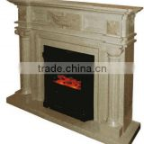 Hot Sell Sculpture Type Carved Granite Mantel