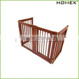 Wood Popular Pet Gate Portable Pet Fence Homex_BSCI Factory