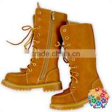 Fancy 1960s Child's Equestrian Style Riding Hot Sale Brown Girls Boot